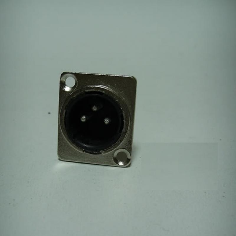 JR 2905A/3P 3 PİN ŞASE ERKEK PLASTİK KANON